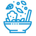 Feed your child nutritious snacks and meals Icon